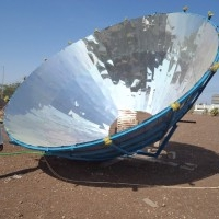 LARGE PARABOLIC SOLAR BASKETS, CONCENTRATOR