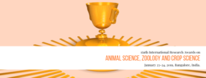 International Innovation Awards on Animal science, Zoology and Crop Science, Bengaluru @ Aurick Boutique Hotel